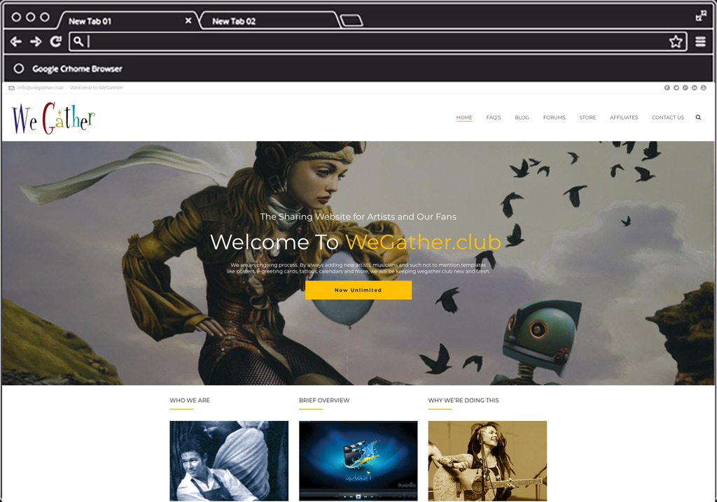 We Gather Web Design Home Image