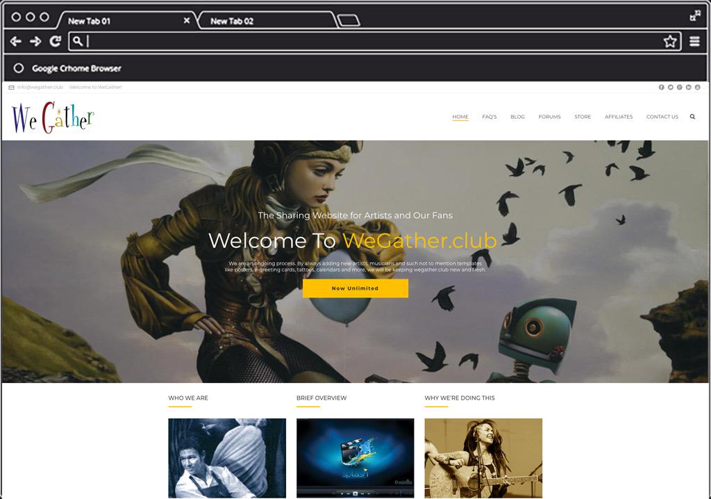 We Gather Web Design Home Image